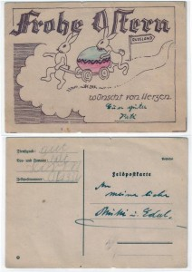 Feldpostkarte zu Ostern