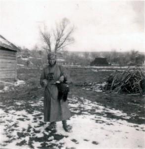 Zwei Birkhühner, geschossen am 30. April 1942 bei Charinki