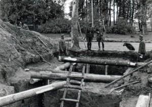 Beim Bunkerbau am Oberrhein 1939