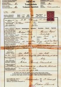 Heiratsurkunde vom 17. Juni 1934