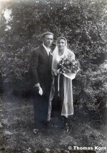 Hochzeitspaar am 17. Juni 1934