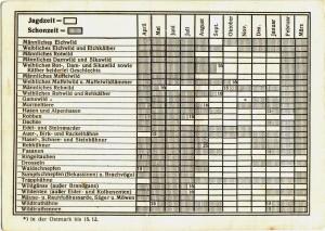 Sudetengau-Jagdschein vom 23. November 1940, Seite 2