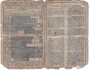 Tschechischer Jagdschein vom 17. Oktober 1935, Seite 2