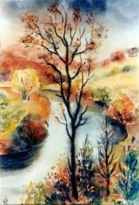 0156 Die Ressa im Herbst 1942 - Aquarell von W.Spitzer_1