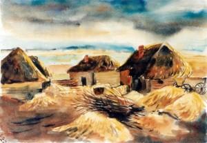0247 Paschki (Gnesdilowo) im April 1943 - Aquarell von W.Spitzer_1