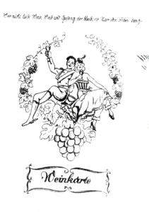 Deckblatt Weinkarte