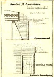 Gasschutz Bunkereingang